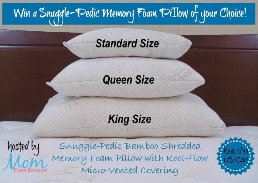 snugglepedic memory foam pillow