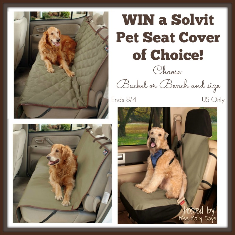 Solvit Pet Seat Covers Giveaway button