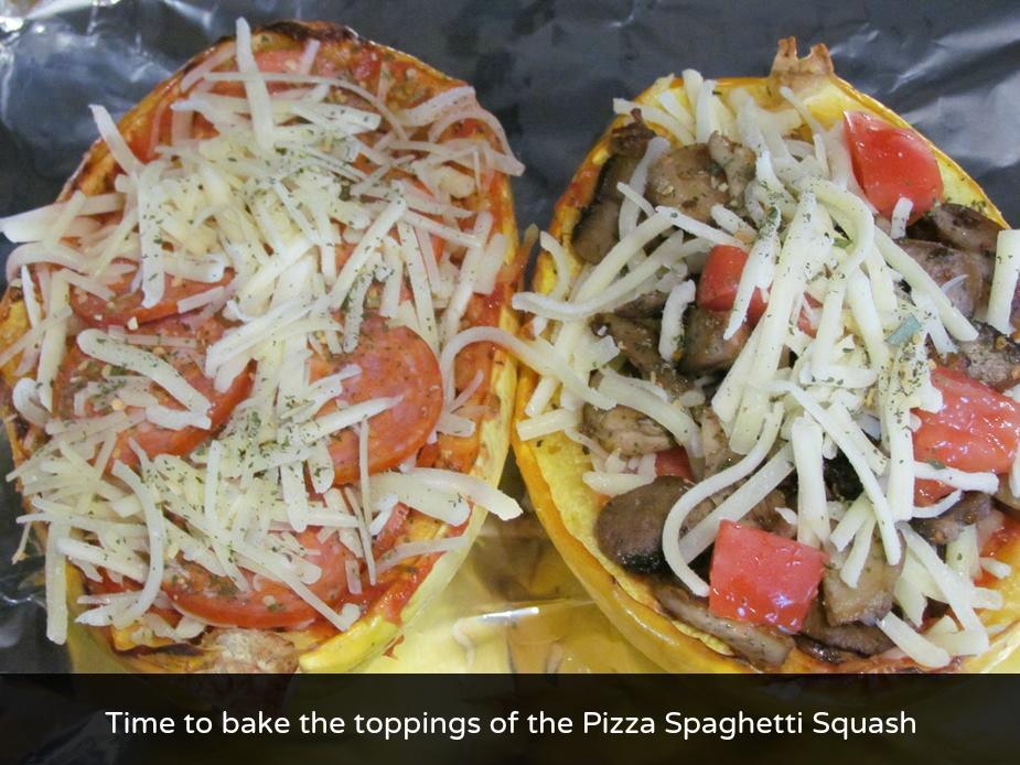 spaghetti squash pizza stage 2