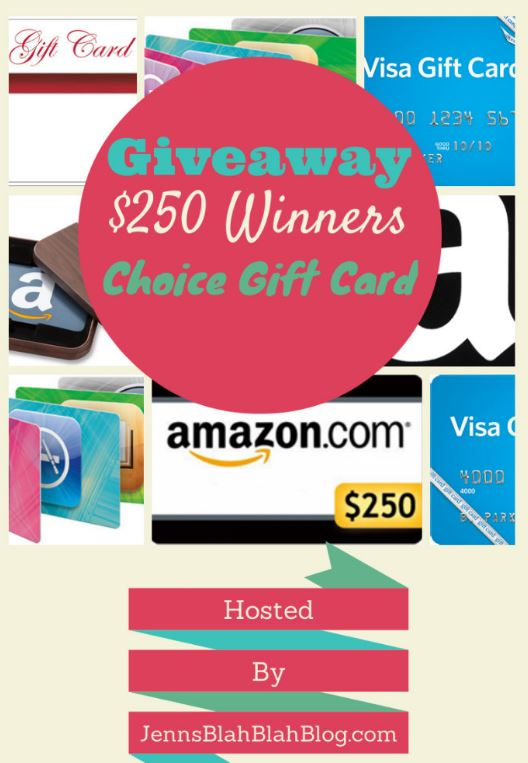 250 gift card august-sept