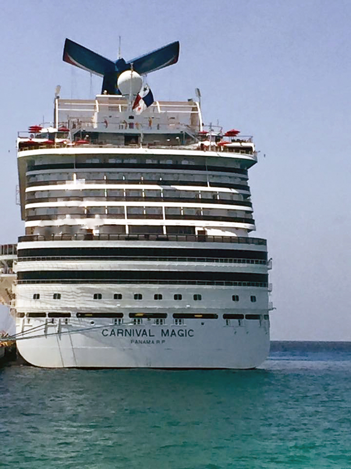 Carnival Magic Costa Maya close up