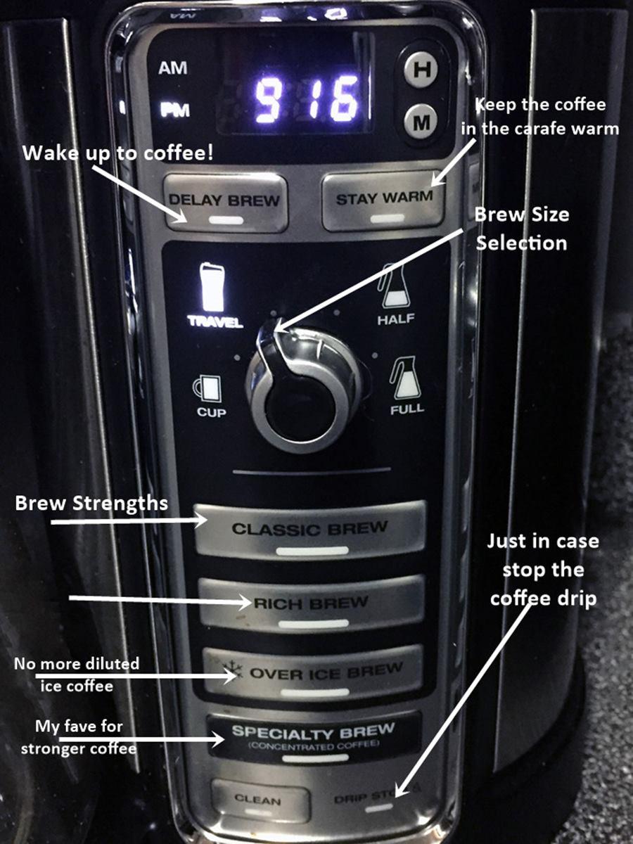 ninja coffee bar with auto IQ display