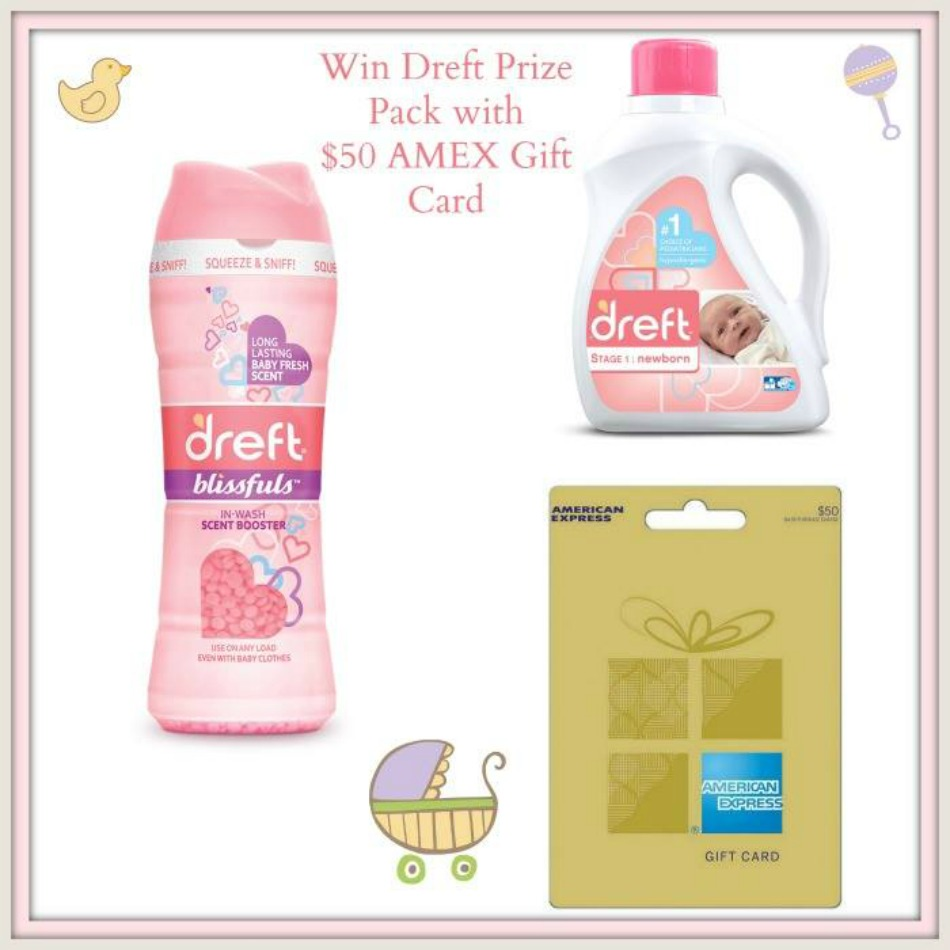 Dreft Prize Pack with $50 AMEX Gift Card Giveaway