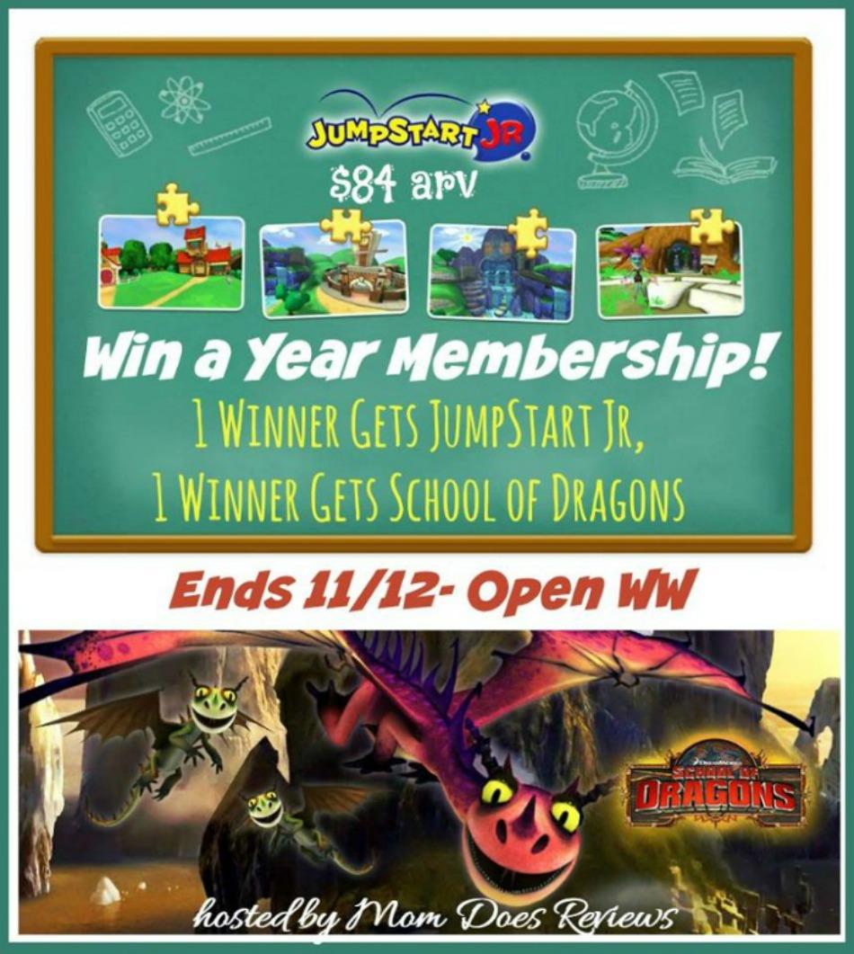 JumpStart Jr & School of Dragons Giveaway!