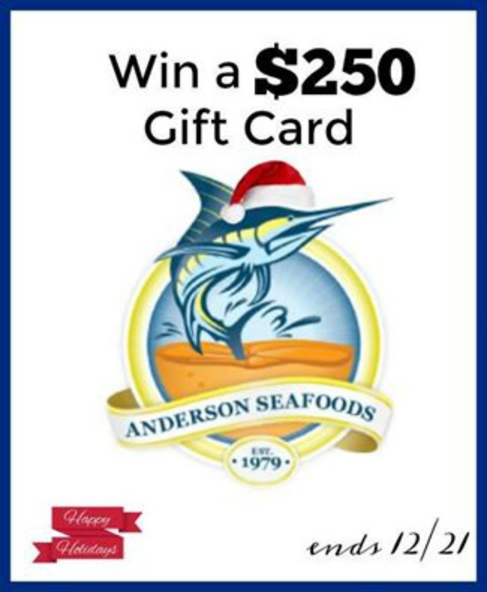 $250 Anderson Seafoods Gift Card Giveaway