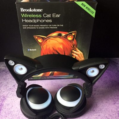 Brookstone Wireless Cat Ear Headphones