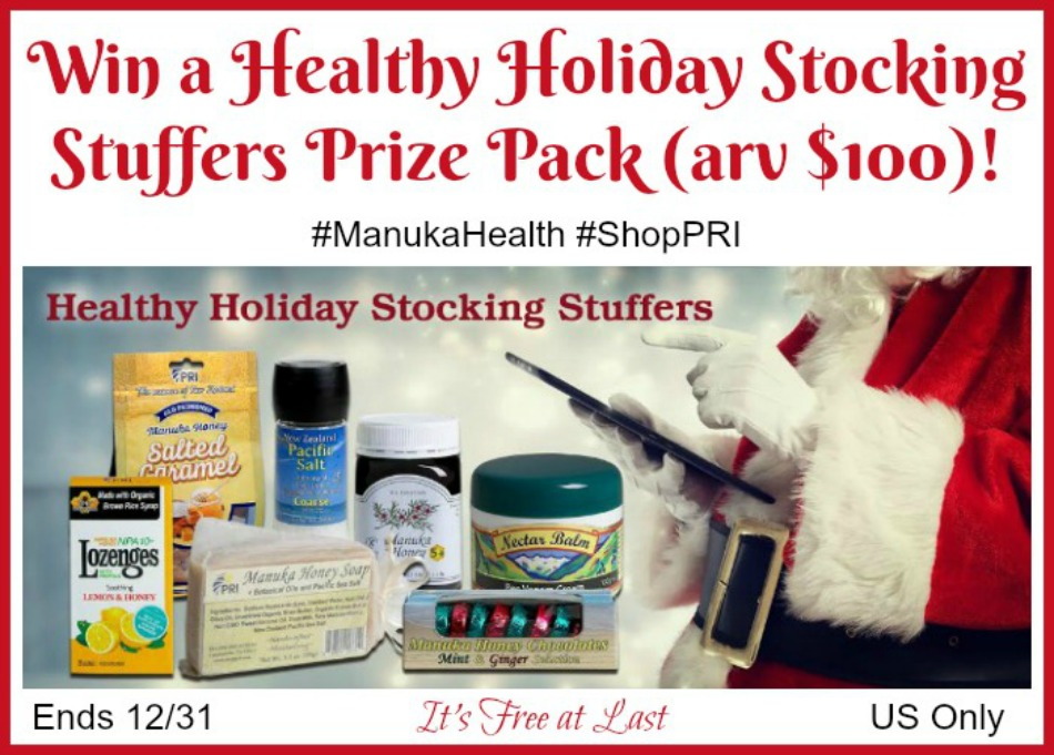 #ManukaHoney Healthy Holiday Stocking Stuffers Prize Pack (arv $100) Giveaway!