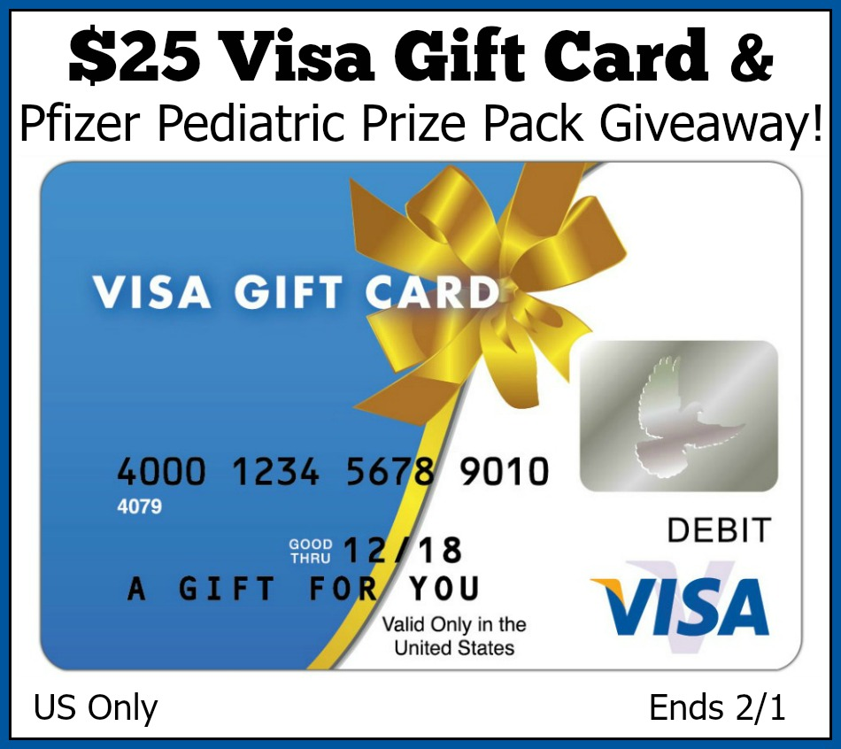 $25 Visa Gift Card and Pfizer Prize Pack Giveaway