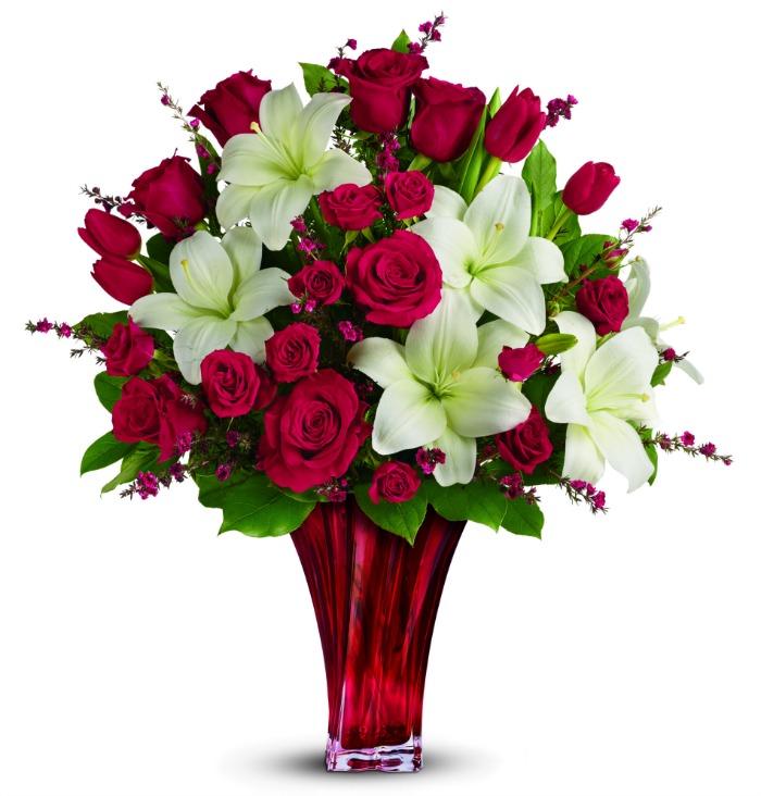 teleflora love's passion bouquet