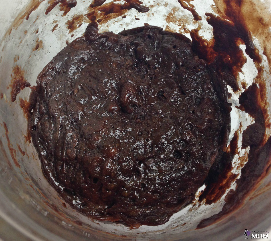 Chocolate Mug Cake overhead in mug