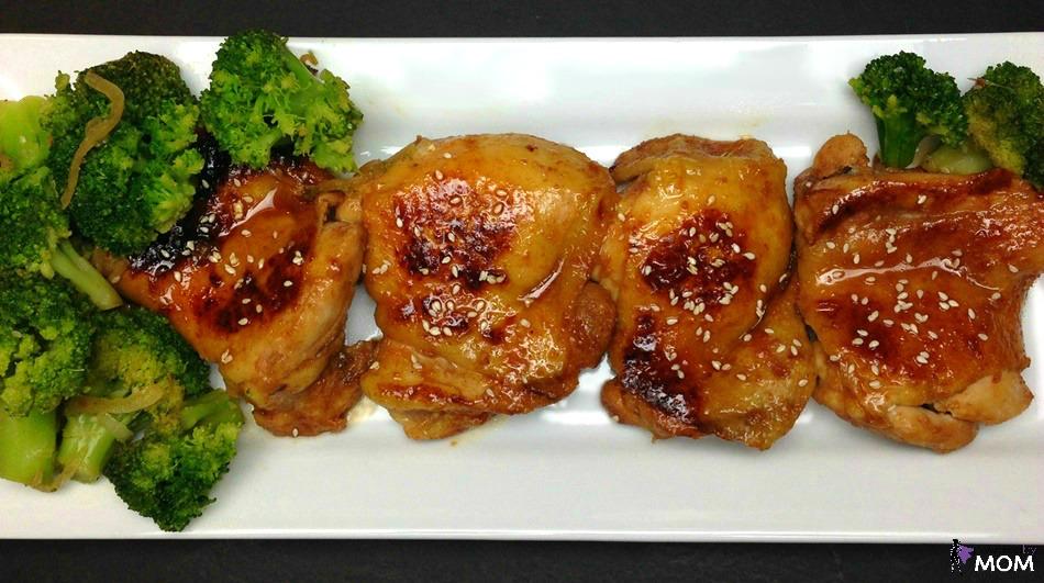 Honey Sriracha Chicken overhead