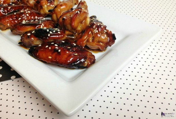 Honey Teriyaki Chicken Wings horizontal platter 8