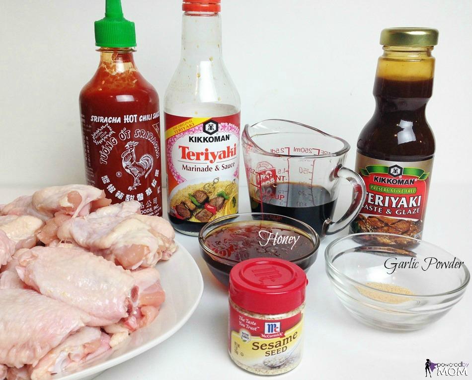 Honey Teriyaki Chicken Wings ingredients 2