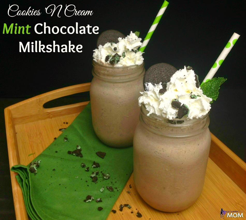 Cookies 'N Cream Mint Chocolate Milkshake horizontal banner 1