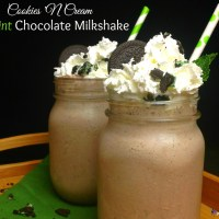 Cookies 'N Cream Mint Chocolate Milkshake