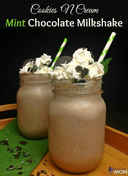 Cookies 'N Cream Mint Chocolate Milkshake vertical banner 1