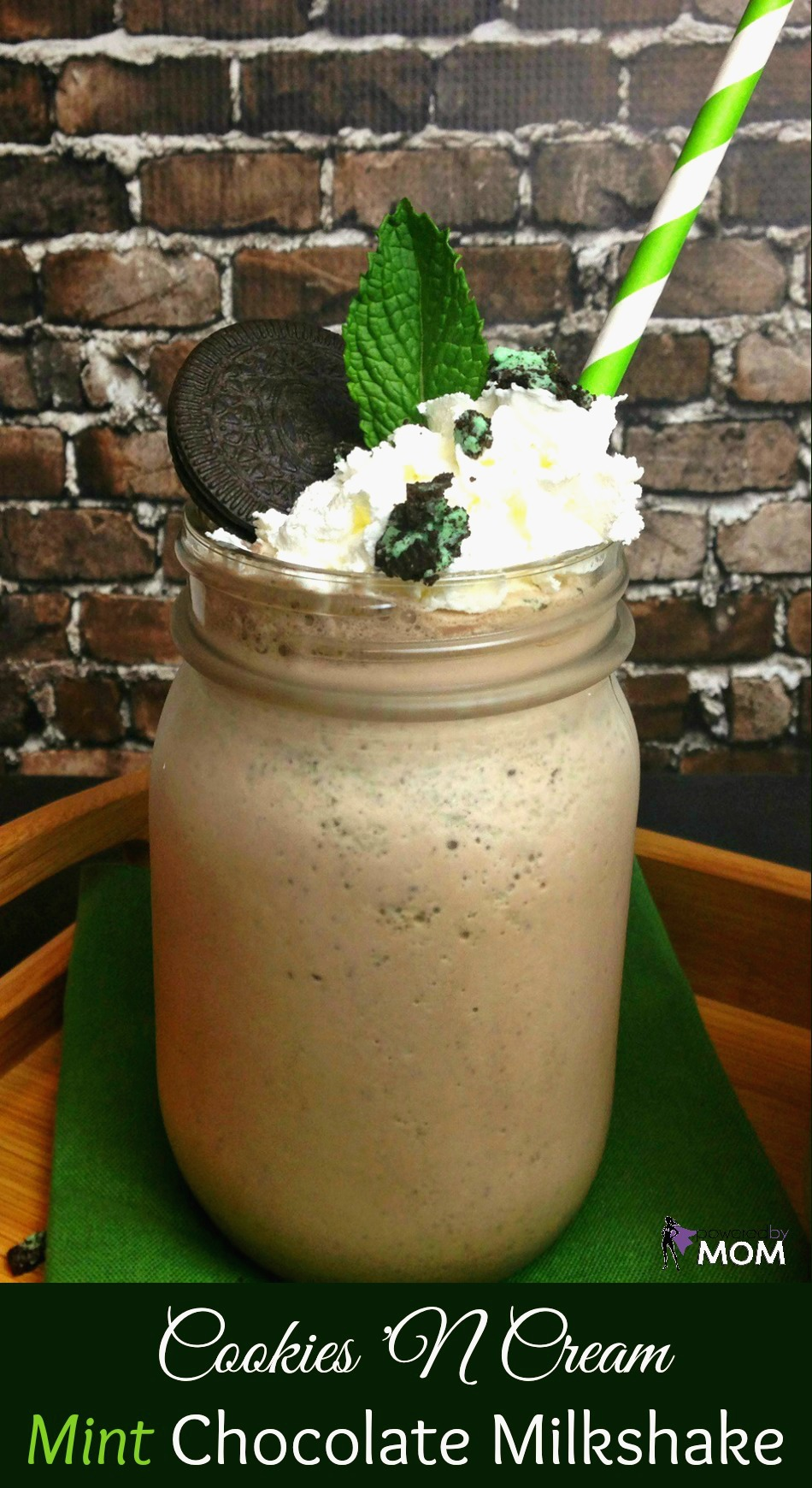 Cookies 'N Cream Mint Chocolate Milkshake vertical banner 2