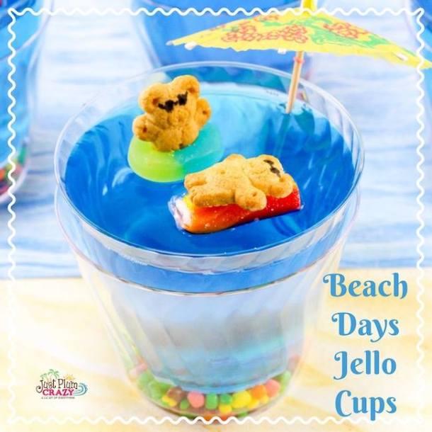 Beach Days Jello Cups