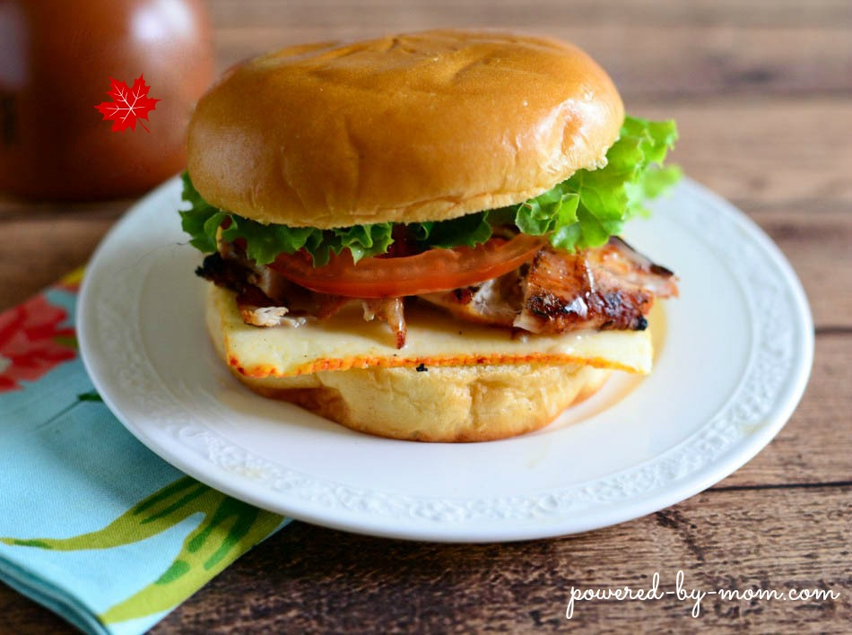 Grilled Chicken Burger with Maple Mayo Drizzle