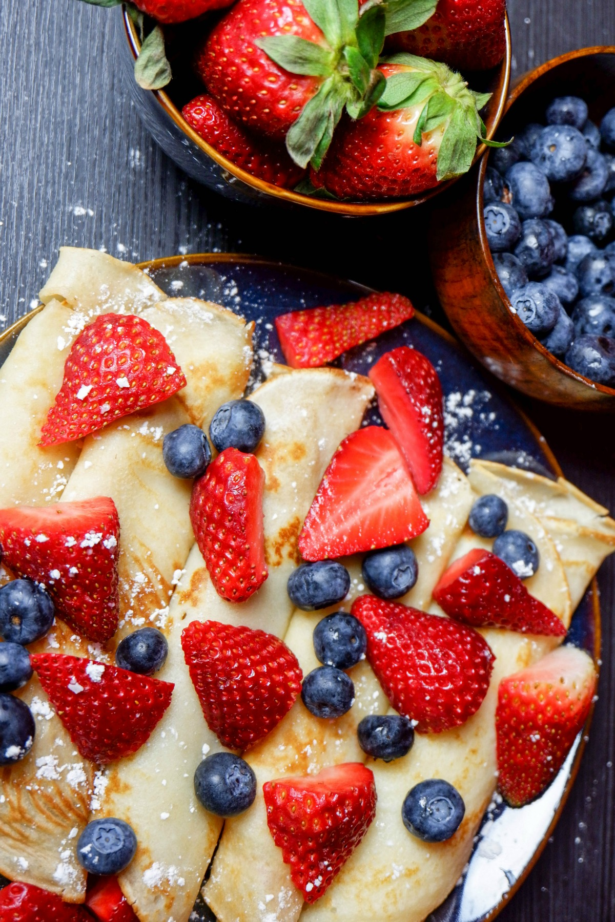 Crepes are delicious to serve for dessert, breakfast or special occasions.
