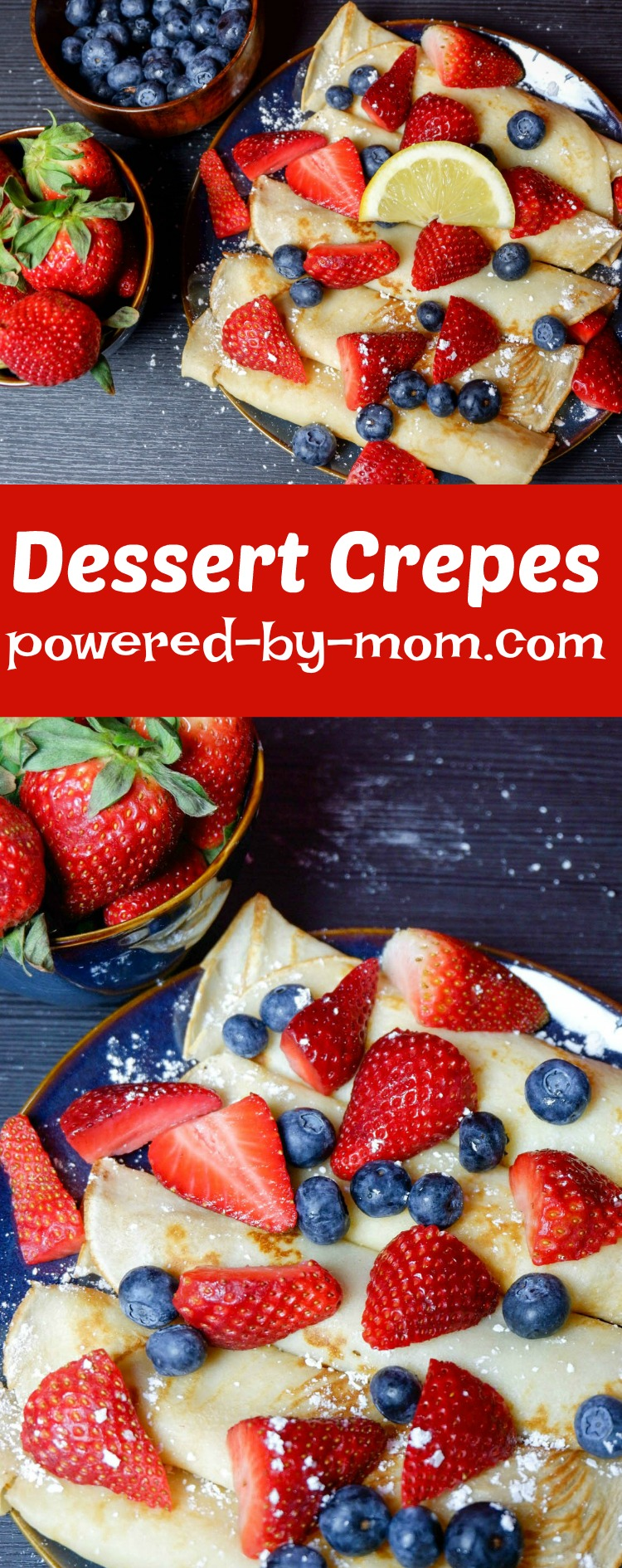 Crepes are delicious to serve for dessert, breakfast or special occasions. Even dinner for savory crepes! Perfect for special occasions like Canada Day!