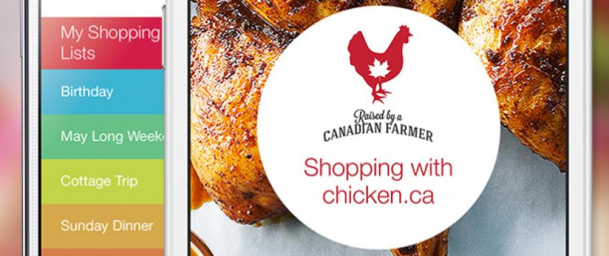 Chicken Farmers of Canada handy grocery app