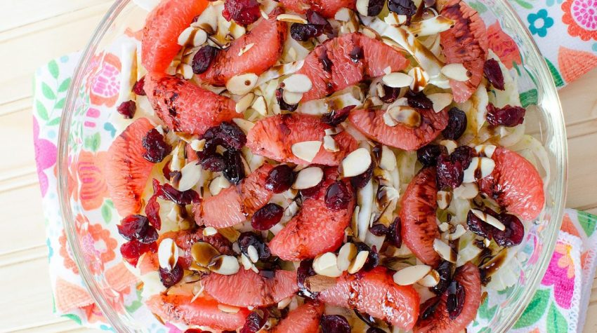 Fennel, Cranberry and Grapefruit Salad refreshing summer salad
