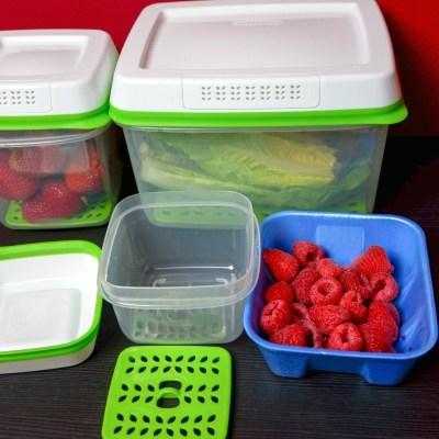 Rubbermaid FreshWorks Keeps Produce Fresher Longer