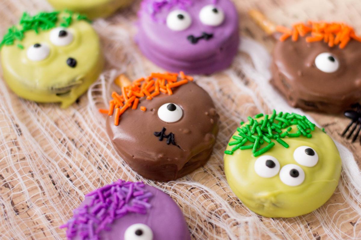 Monster Halloween Cookies: Monster Cookies Recipe: Easy Halloween Treats! On Powered