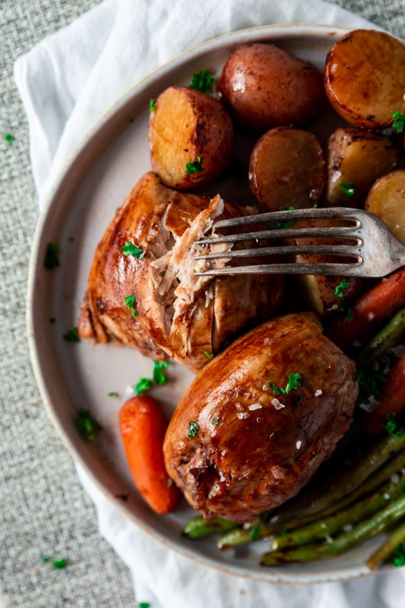 brown sugar and balsamic slow cooker chicken