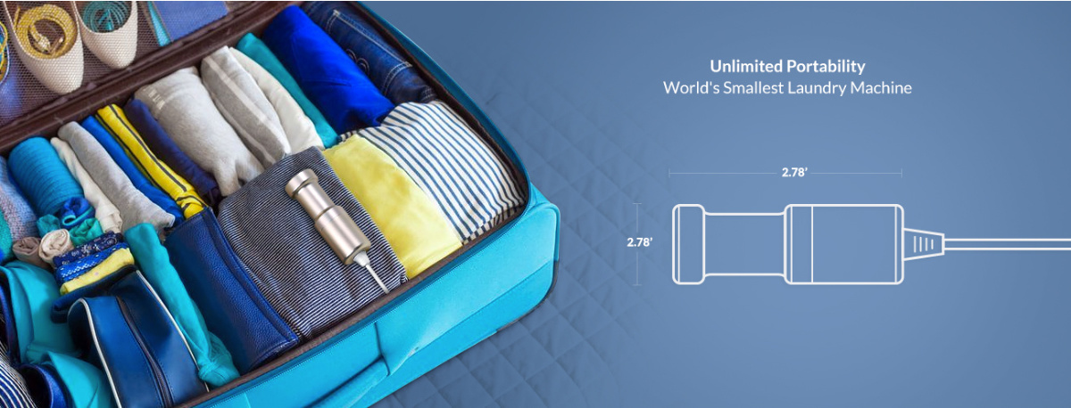 best ultrasonic cleaner, portable, travel, smallest washing machine