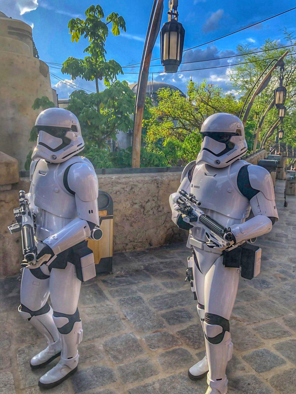 Disney's Galaxy's Edge stormtroopers
