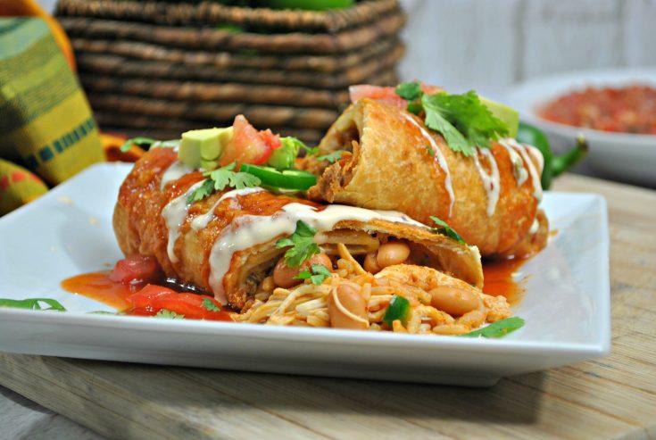 Easy Peasy Instant Pot Chicken Chimichanga