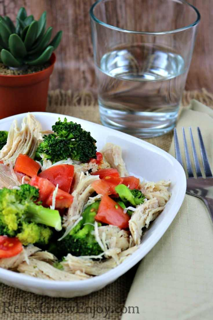 Pressure Cooker Lemon Pepper Chicken With Broccoli And Tomatoes - Paleo & Whole30