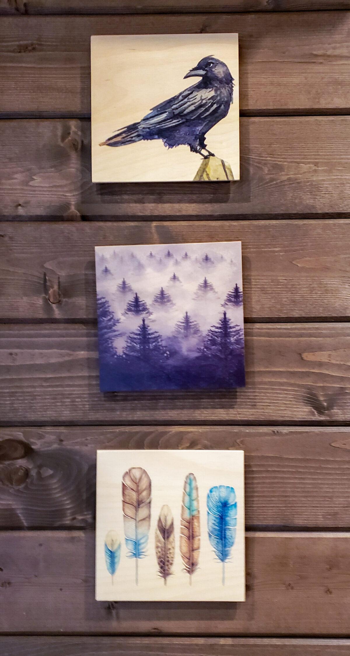 Raven cabin artwork