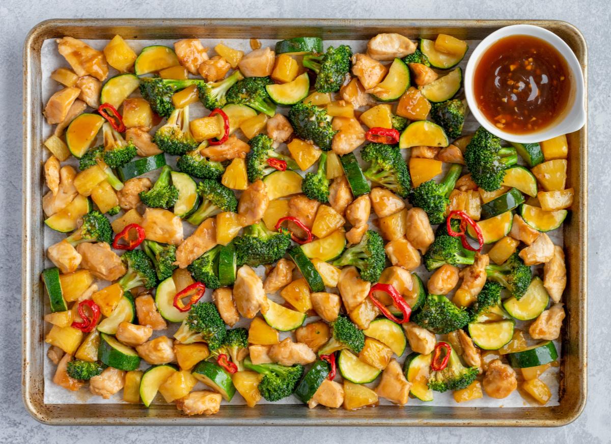 baked chicken teriyaki sheet pan chicken