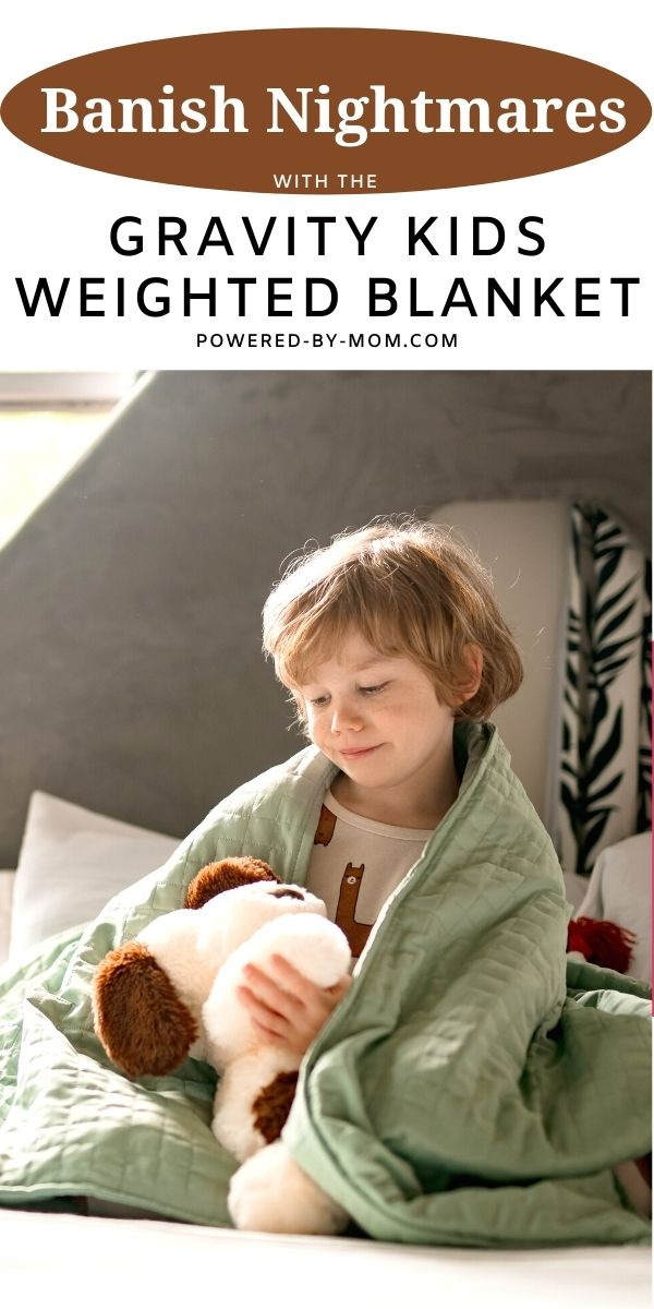 Things have improved since we received theweighted blanket. It's made especially for kids and it has helped to banish nightmares in our home.