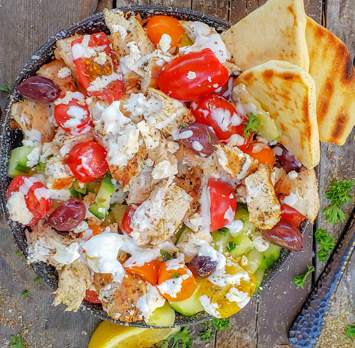 grilled Greek chicken salad