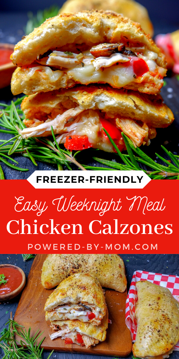 This delicious and easy Chicken Calzone Recipe is a tasty meal that everyone loves and is ideal for making ahead and popping into the freezer!