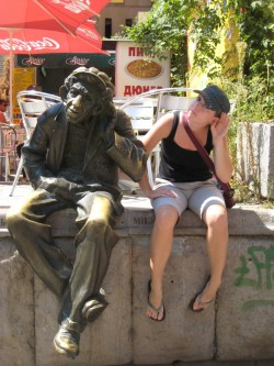 Being a statue in Plovdiv, Bulgaria