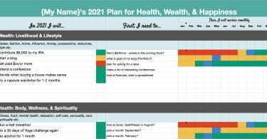 2021 Goal Setting Template