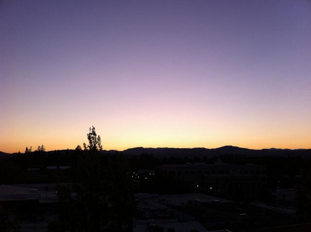 rooftop sunset Hotel Oregon