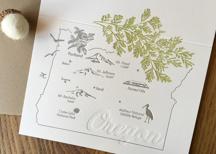 Oregon letterpress cards - Lark press