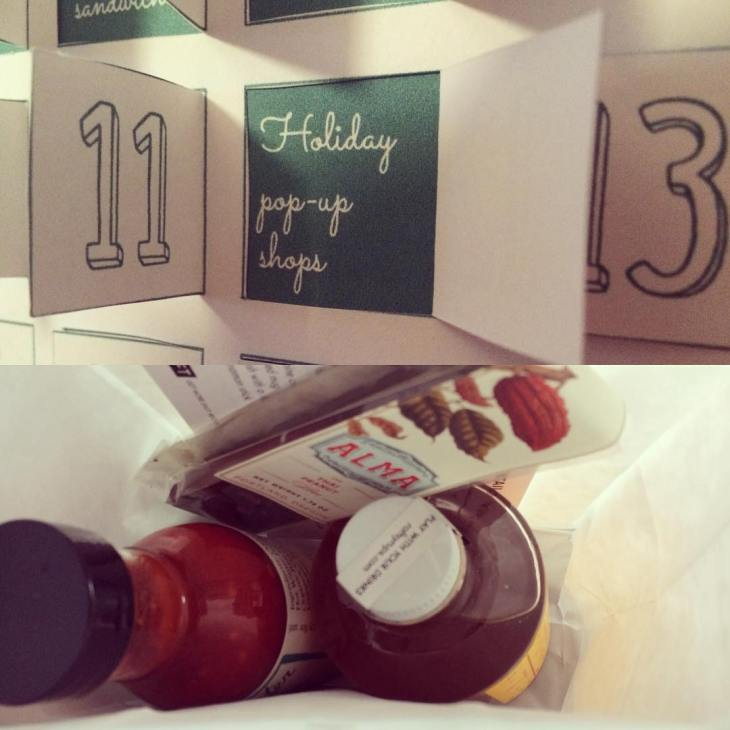 Pop out advent calendar