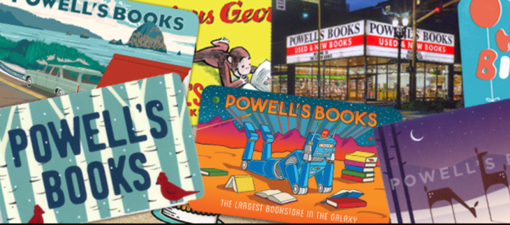 Powells Books gift cards