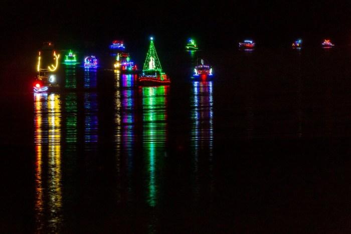 Christmas Ships Parade on Portland rivers
