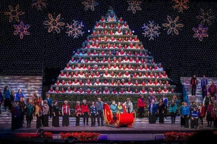 Singing Christmas tree in Portland Oregon