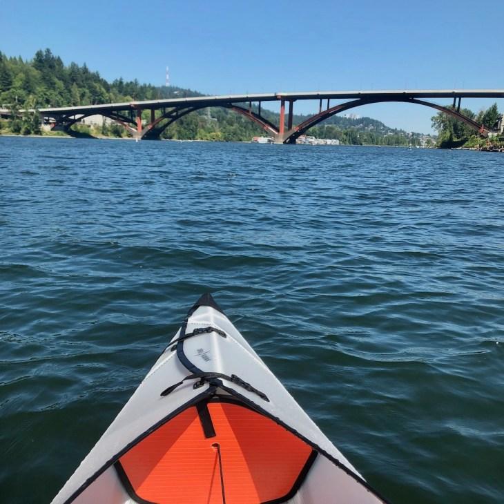 kayaking near Sellwood - Willamette River