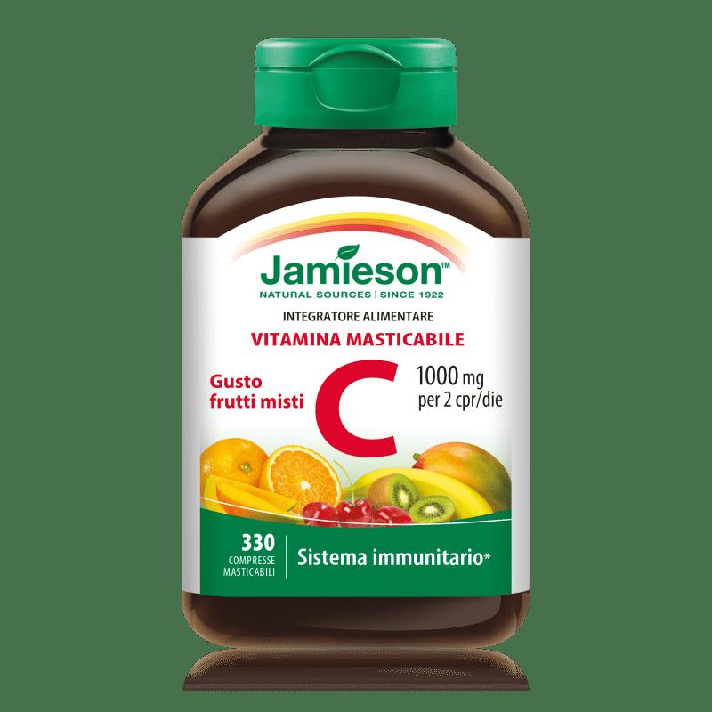 Vitamina c masticabile 330 compresse Jamieson Frutti Misti