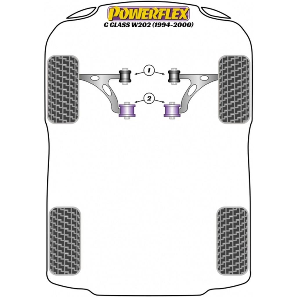 Powerflex Vordere Buchsen Querlenker Mercedes W202 C208